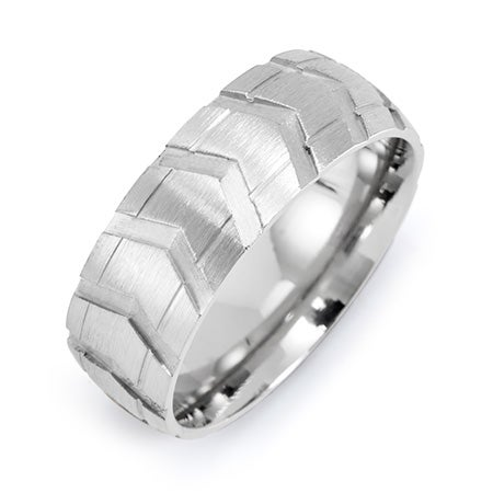 Men's Stainless Steel Tire Ring | Eve's Addiction®