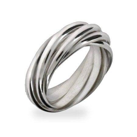 Seven Band Sterling Silver Rolling Ring   Eve's Addiction®