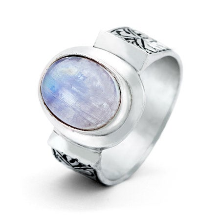 Vintage Style Moonstone Sterling Silver Ring | Eve's Addiction®