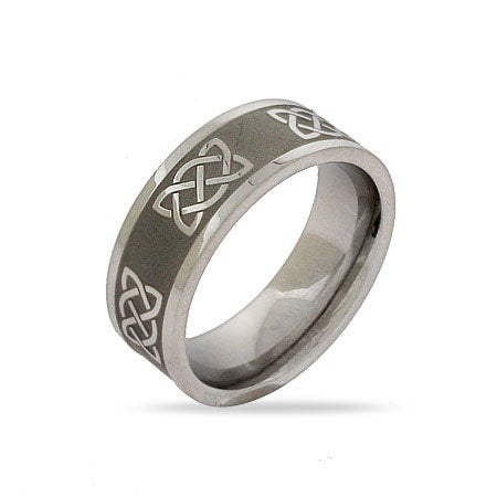 Stainless Steel Celtic Knot Band | Eve's Addiction®