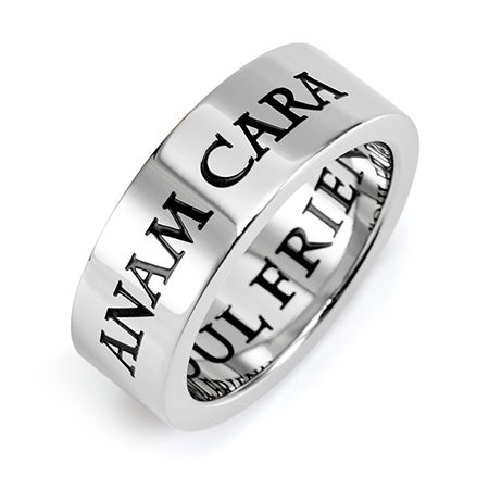 Anam Cara Soul Friend Stainless Steel Poesy Ring | Eve's Addiction®