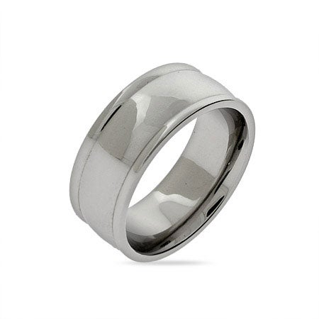 Engravable Stainless Steel Domed Ring | Eve's Addiction