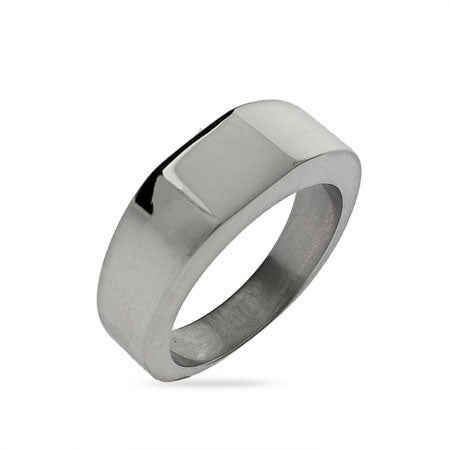 Lady's Square Cut Engravable Signet Ring | Eve's Addiction®