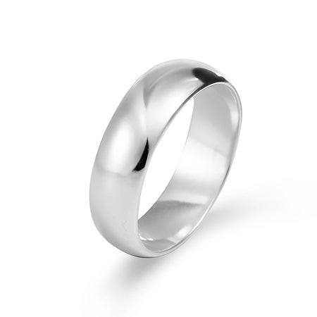 Engravable 6mm Sterling Silver Wedding Band
