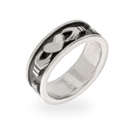Sterling Silver Claddagh Message Band | Eve's Addiction®