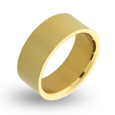 18K Gold Plated 9mm Stainless Steel Band | Eve's Addiction®