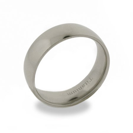 7mm Mens Engravable Titanium Band | Eve's Addiction®