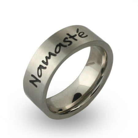 Stainless Steel Engravable Namaste Band | Eve's Addiction®