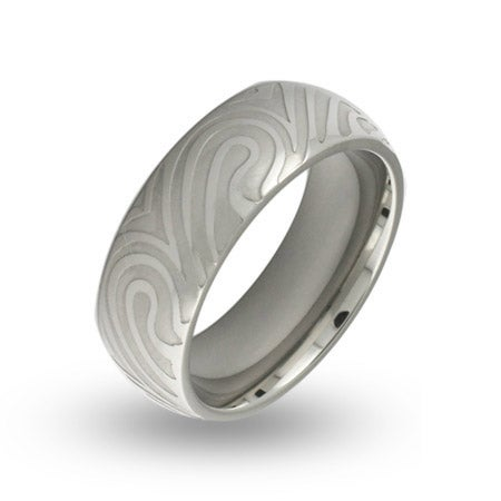 Mens Stainless Steel Mokume Gane Swirl Ring | Eve's Addiction®