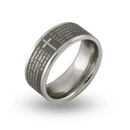 Lords Prayer Engravable Message Ring | Eve's Addiction®