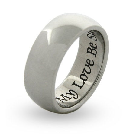 Of My Love Be Sure Engravable Poesy Ring | Eve's Addiction®