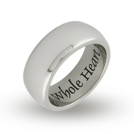 My Whole Heart For My Whole Life Engravable Poesy Ring | Eve's Addiction®