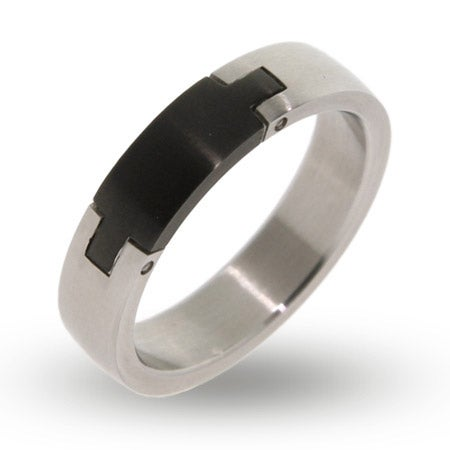 Engravable Stainless Steel Puzzle Signet Ring | Eve's Addiction®