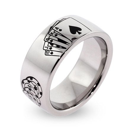 Engravable Stainless Steel Poker Ring | Eve's Addiction®