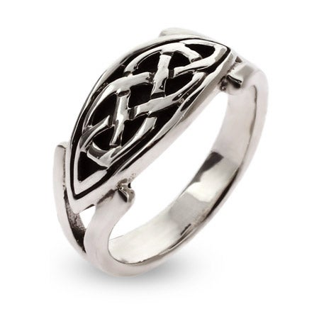 Sterling Silver Oval Celtic Knot Ring | Eve's Addiction®