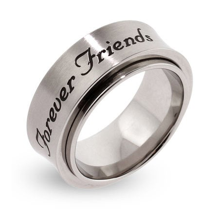 Forever Friends Engraved Spinner Ring | Eve's Addiction®
