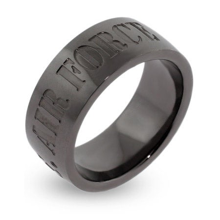 US Air Force Engravable Military Ring | Eve's Addiction®