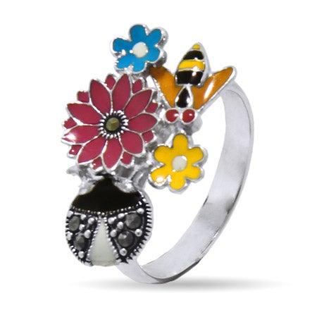Designer Inspired Enamel Nature Ring | Eve's Addiction®