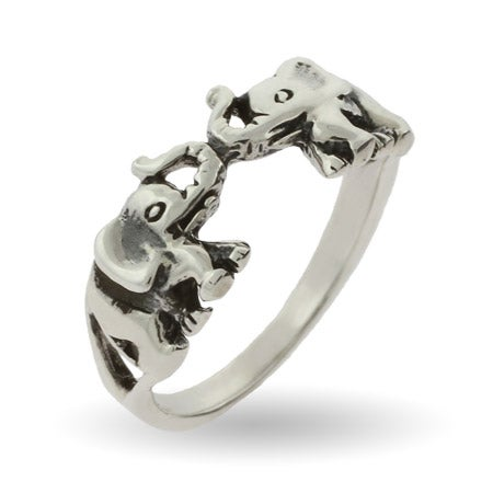 Lucky Double Elephant Ring | Eve's Addiction®