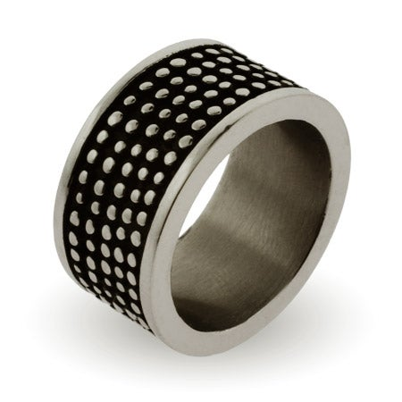 Men's Engravable Stainless Steel Dotted Band | Eve's Addiction®