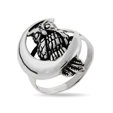 Sterling Silver Midnight Owl Ring | Eve's Addiction®