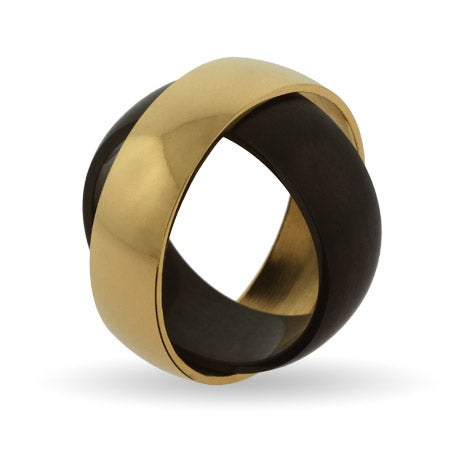 Engravable Eclipse Secret Message Band in Golden Black | Eve's Addiction