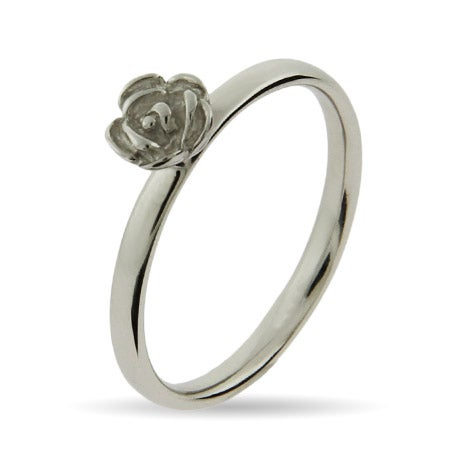 Sterling Silver Rose Stackable Ring