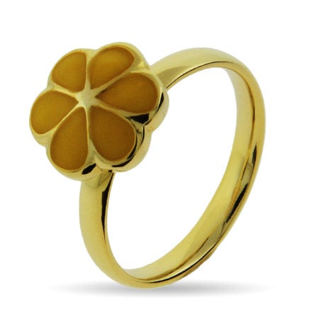 Stackable Reflections Gold Vermeil Yellow Magnolia Stackable Ring | Eve's Addiction®