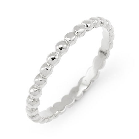 Silver Beaded Stackable Ring | Eve's Addiction®