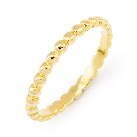 Gold Vermeil Beaded Stackable Ring | Eve's Addiction