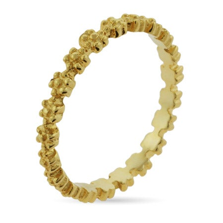 Gold Vermeil Ring of Flowers Stackable Ring | Eve's Addiction®