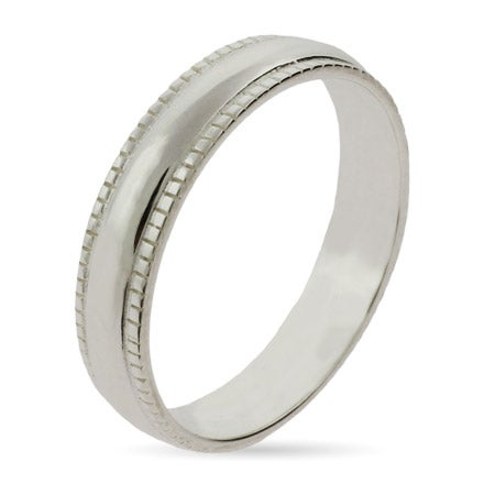 Sterling Silver Milgrain Edge Stackable Ring | Eve's Addiction®