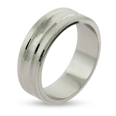 Engravable Sterling Silver Wedding Band | Eve's Addiction