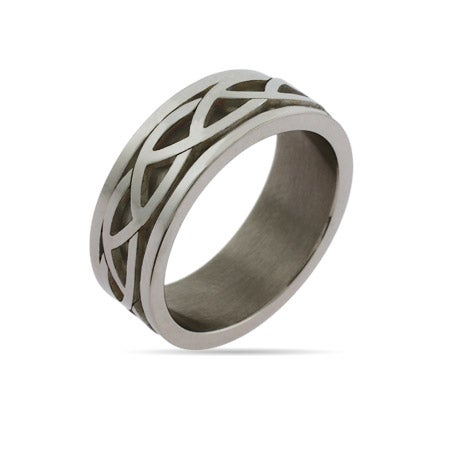 Mens Celtic Knot Engravable Ring | Eve's Addiction®