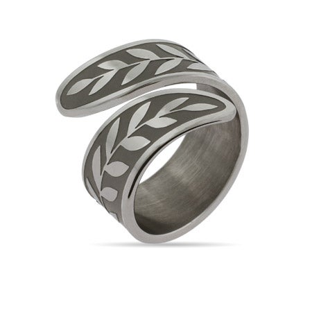 Engravable Vine Spoon Ring | Eve's Addiction®