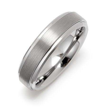 6mm Raised Center Engravable Tungsten Ring | Eve's Addiction®