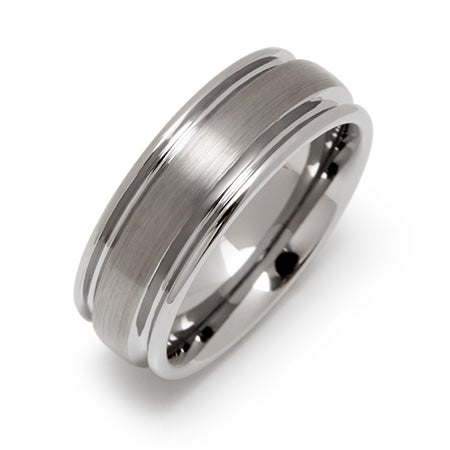 Brushed Finish Engravable Tungsten Band | Eve's Addiction®