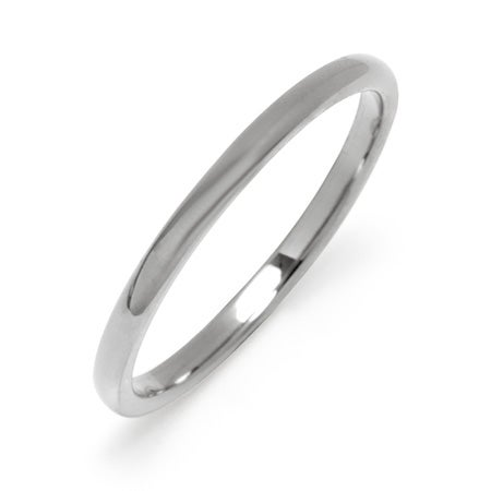 2 mm Thin Tungsten Wedding Band | Eve's Addiction®