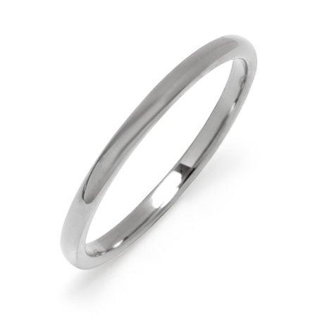 2 mm Thin Tungsten Wedding Band | Eve's Addiction®