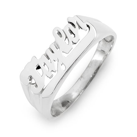 Sterling Silver Name Ring | Eve's Addiction®