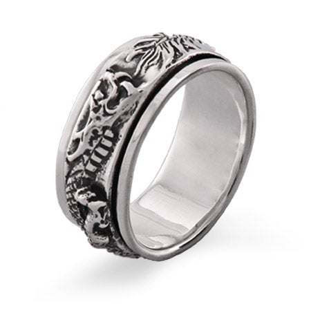 Sterling Silver Dragon Spinner Ring | Eve's Addiction®