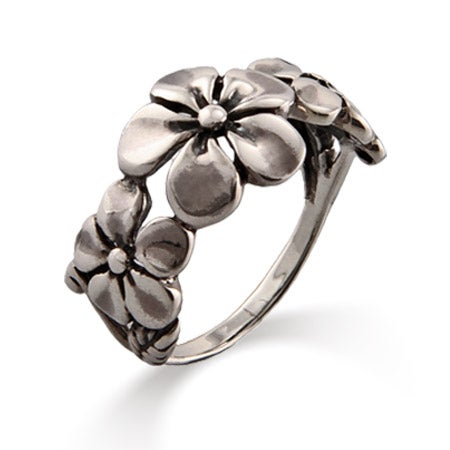 Sterling Silver Dogwood Flower Ring | Eve's Addiction®