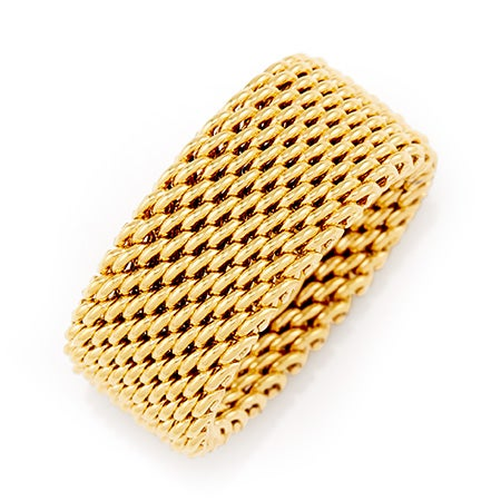 Designer Style Gold Mesh Ring | Eve's Addiction®