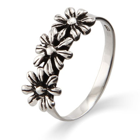 Silver Daisies Petite Sterling Silver Ring | Eve's Addiction®