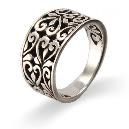 Vintage Filigree Hearts Sterling Silver Ring | Eve's Addiction®