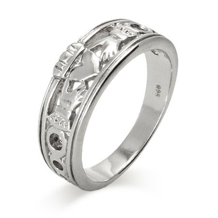 Sterling Silver Claddagh Band | Eve's Addiction®