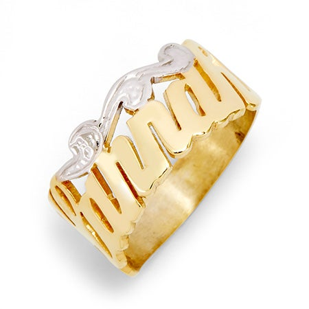 Gold Vermeil Custom Script Name Ring | Eve's Addiction®