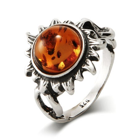 Baltic Amber Sun Ring | Eve's Addiction®