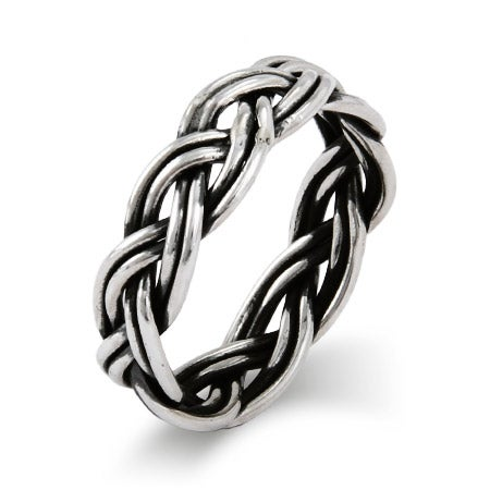Classic Braided Band in Sterling Silver | Eve's Addiction®