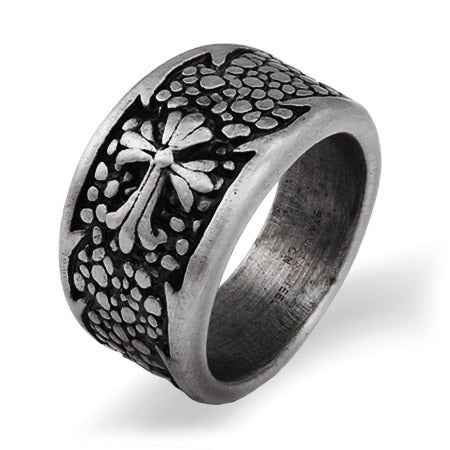 Men's Stainless Steel Renaissance Style Ring